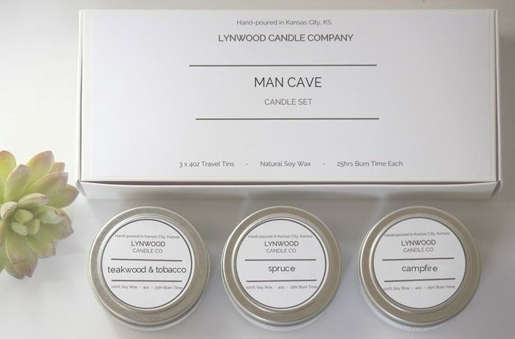 MAN CAVE Soy Candle Tin Gift Set // Natural Candle // Candle Gift // Scented Candle // Candle Sets // Candle Gifts // Tin Candle by LynwoodCandleCompany on Etsy https://www.etsy.com/listing/510838829/man-cave-soy-candle-tin-gift-set-natural