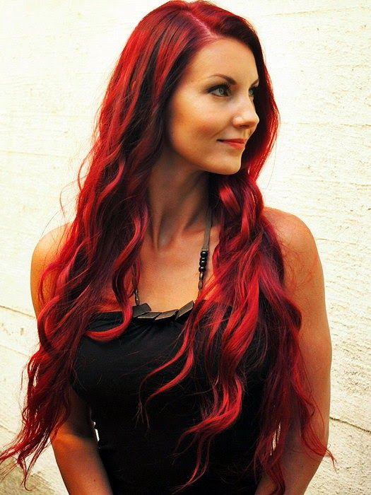 Päästä varpaisiin: Liukuvärjäys: punaiset hiukset