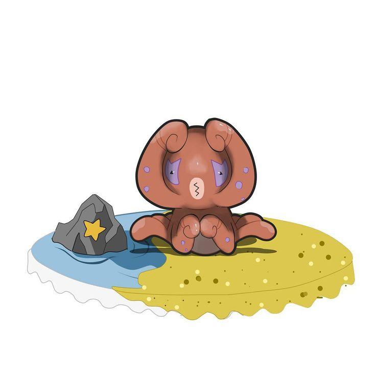 """Conozcan a...CRUELYPUS de tipo Siniestro... Este pokémon suele aparecerse en las playas de toda la región buscando pelear con otros pokémon.suele golpear con sus tentaculos que cubren su rostro y dar golpes bajos con los que cubren su panza. Son muy territoriales y de seguro un gran estorbo para algunos. Tiene la habilidad """"foco interno"""" lo cual siempre estará dando lo mejor de él en una batalla. Cruelypus evoluciona al nivel 25, adquiriendo un tipo secundario... ¡Espero que les guste…"""