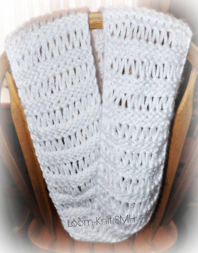 Bufandas infinitas tejidas en telar por Samm