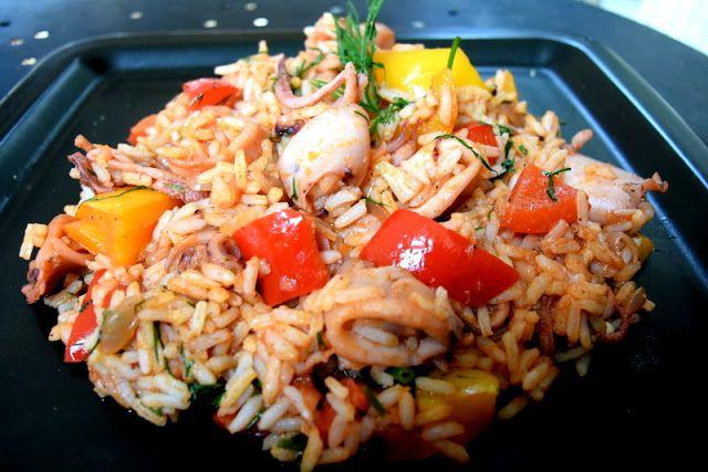 Kαλαμαράκια με ρύζι! ~ ΜΑΓΕΙΡΙΚΗ ΚΑΙ ΣΥΝΤΑΓΕΣ