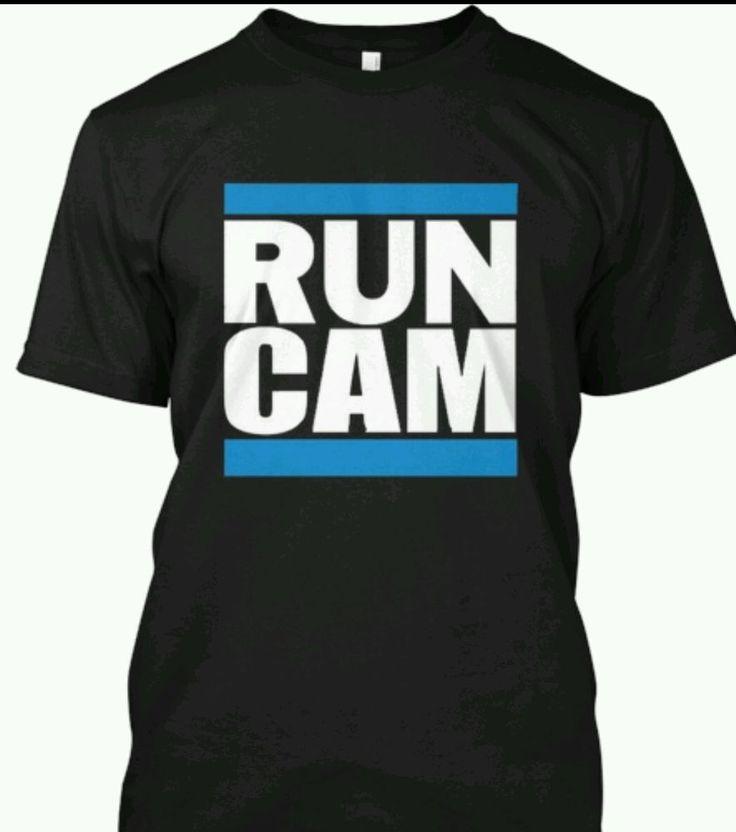 Cam Newton #1 Carolina Panthers Run Cam T shirt #CarolinaPanthers