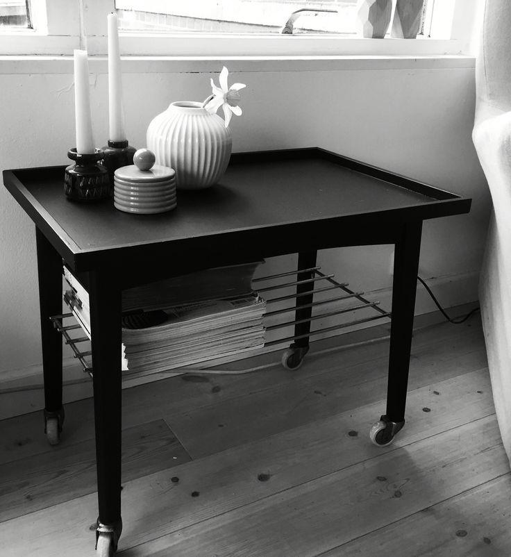 Gl. Rullebord malet sort og fået nyt liv