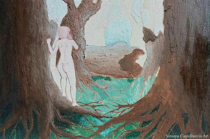 Wip! #artoftheday #illustrationoftheday #wip #illustration #photooftheday #photo #oilpaint #painting #canvas #art #artist #draw #drawing #tree #nature #girl #smoke #anatomy