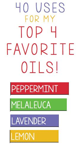 40 Uses For My Top 4 Favorite Oils!   One Good Thing By Jillee