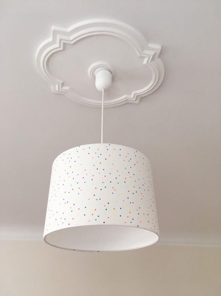 Lamp Hanging Ceiling, White Childrens Lampshade