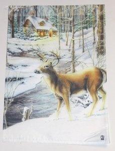 Amazon.com: Deer Winter Garden Flag: Patio, Lawn U0026 Garden