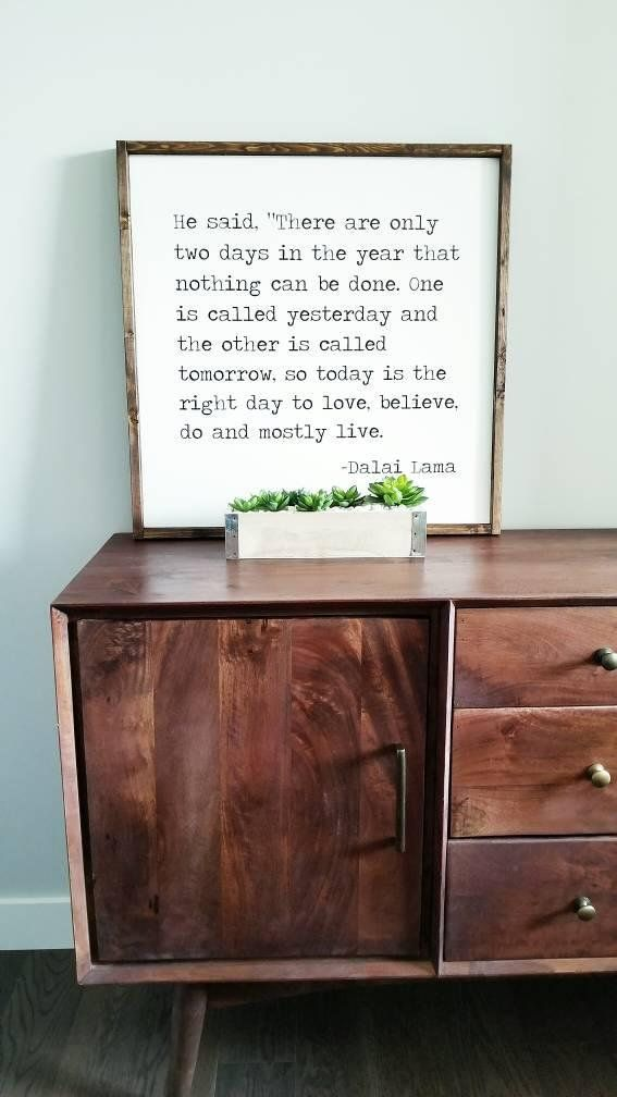 Dalai Lama Quote Quote Sign Wood Sign Framed Sign