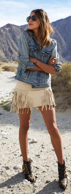 Fringed Suede Little Dress by Sincerely Jules