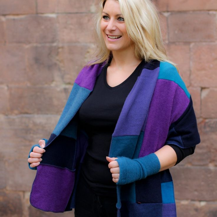 Our Cashmere wrap is ideal for a bit of warmth throughout the year - think of it as a patchwork pashmina that you can wear as a summer shawl or a winter scarf. #cashmere #shrewsbury #Shropshire #turtledovescashmere