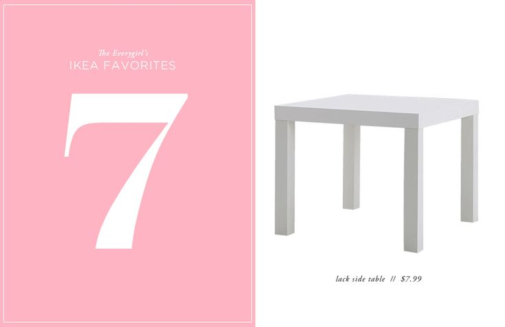 The Everygirl's 10 Favorite Ikea Finds // lack side table // $7.99