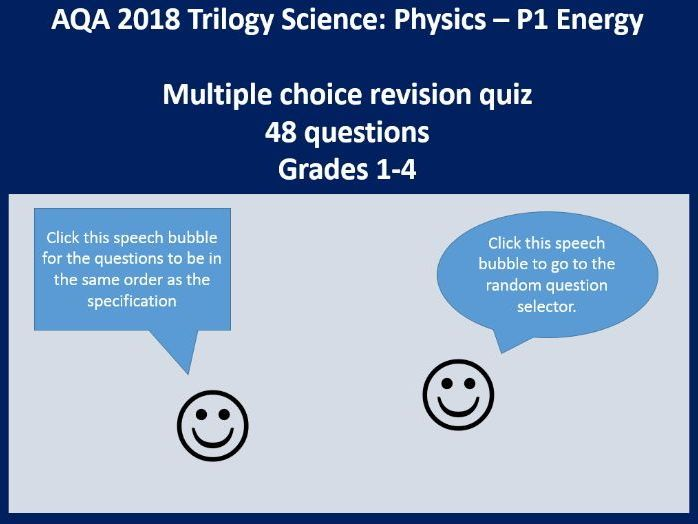 New 2018 AQA GCSE Physics / Trilogy Science P1 Energy revision