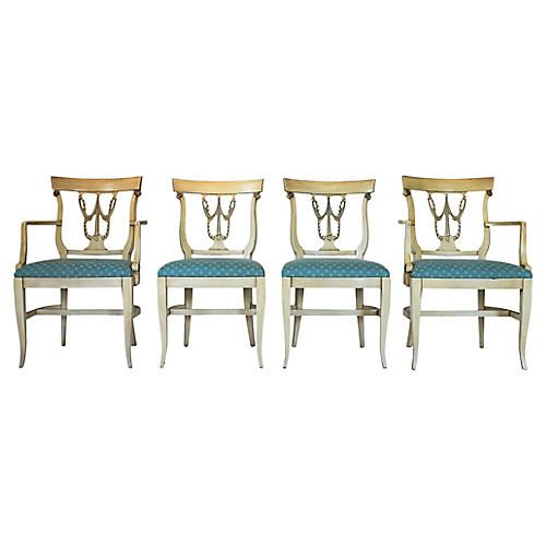 Neoclassical-Style Dining Chairs, S/4