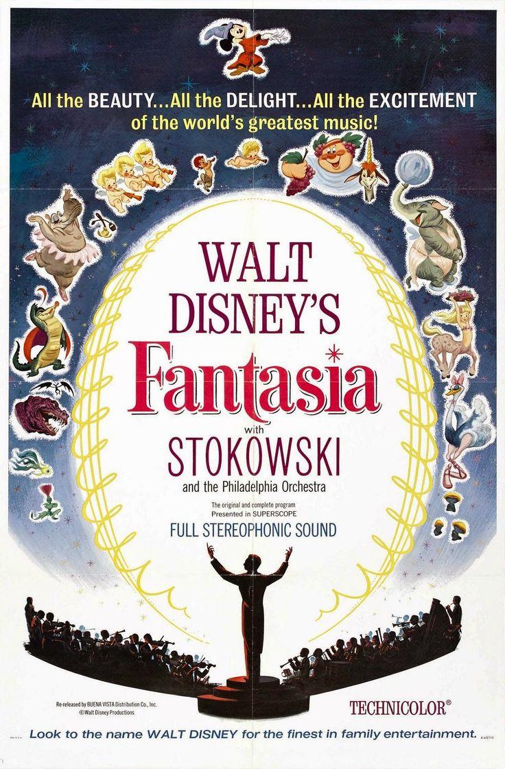 fantasia 1940 carteles de cine cl225sico pinterest