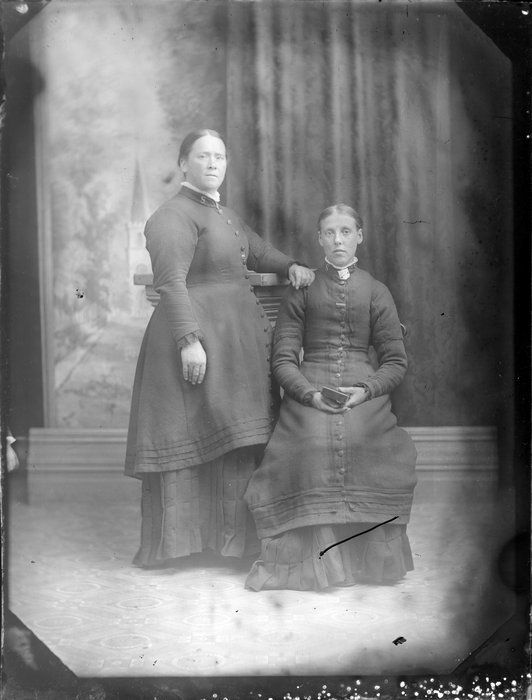 Two unidentified women in Salvation Army uniform c1880's