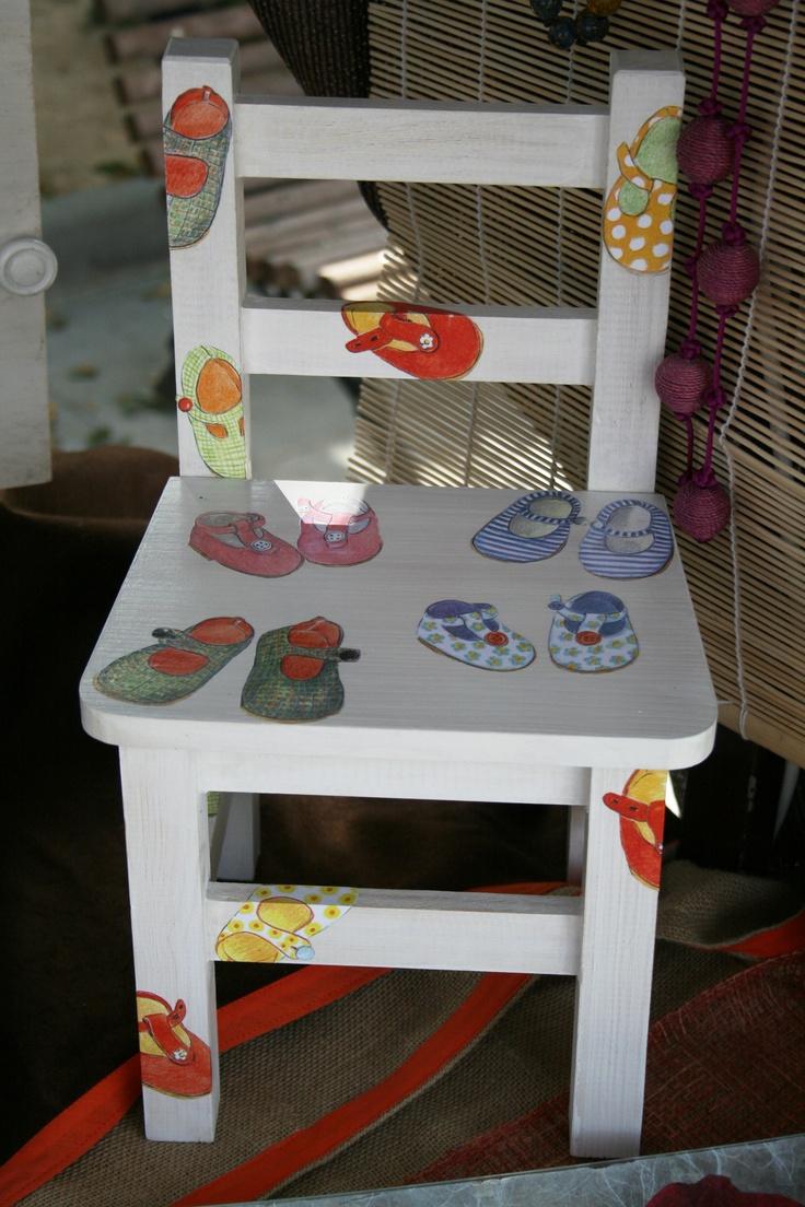28 mejores im genes sobre pintura mesas y sillas - Sillas infantiles ...