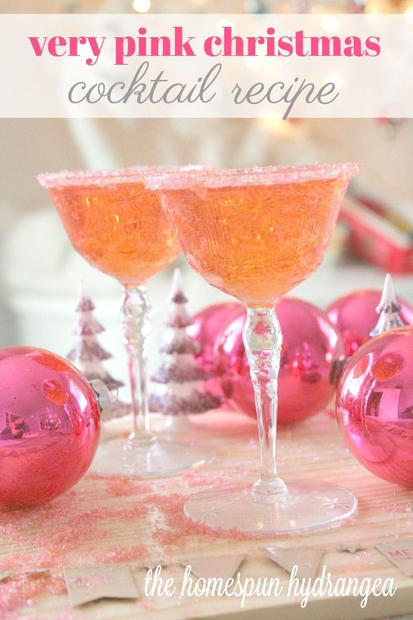 A Very Pink Christmas Cocktail Recipe Drink Recipes Pinterest