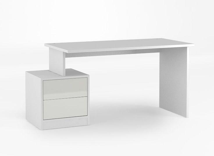 Biurko 135 Z o wymiarach: 745x1345x650. Występuje bez kontenerka pokazanego na zdjęciu. laminowany blat o grubości 25 mm, duża powierzchnia blatu, do tego rodzaju biurka można dołączyć kontenerk lub regały RTV, boki biurka i blat wykonane z płyty laminowanej.