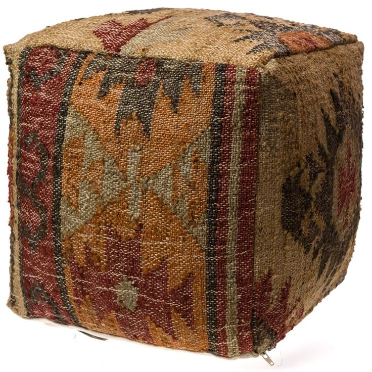 Handwoven Cube Ottoman | Collections | Horse  - Cracker Barrel Old Country Store