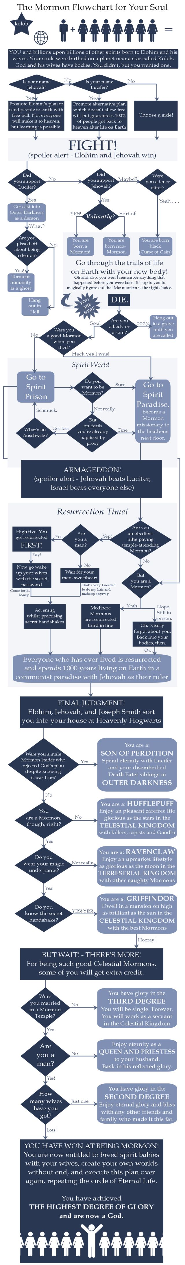 Ever wondered what would happen to your soul if Southpark/ The Mormons turn out to be right? #mormonflowchart #mormon #ExMormon