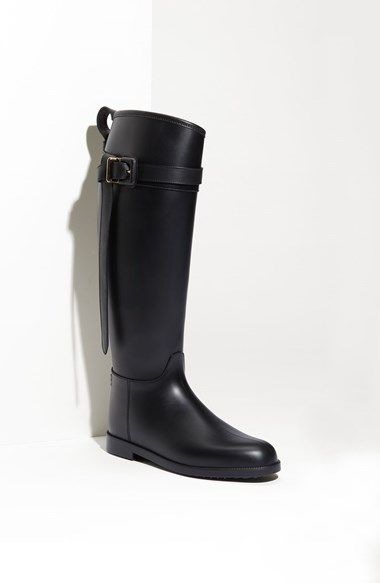 Burberry Rubber Riding Boot available at #Nordstrom- you'll never have to  buy