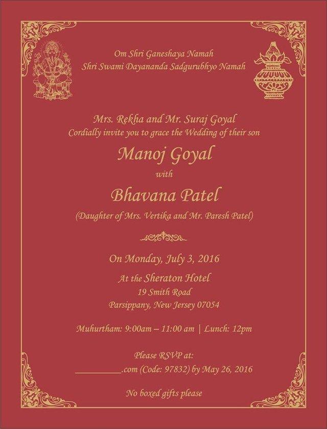 27 Brilliant Photo Of Hindu Wedding Invitations Denchaihosp Com Indian Wedding Invitation Cards Hindu Wedding Invitations Indian Wedding Invitations