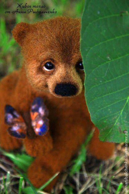 медвежонок Потапушка - коричневый,медведь,медвежонок,медведь игрушка,мишка
