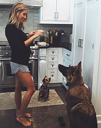 Pregnant Kristin Cavallari Gives Dogs Treats in New Baby Bump Photo - Us Weekly