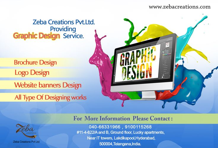 Get Creative #Graphics #Design !! #ZebaCreations pvt ltd is a #Graphic design company in #Hyderabad, offering #Designing services in web media. We also provide #WebDesigning services. See more @ http://www.zebacreations.com/