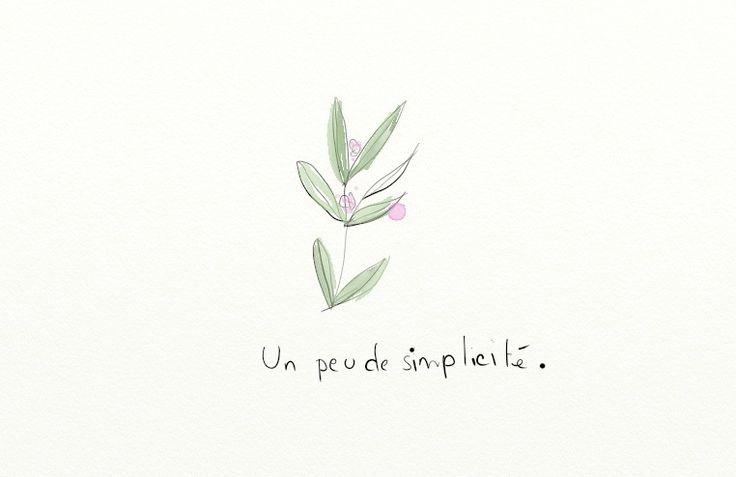 a little bit of simplicity