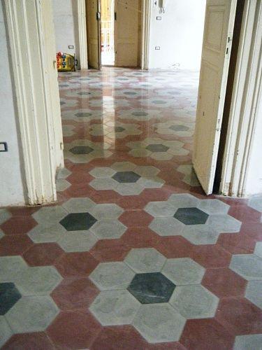 Affordable mattonelle esagonali bagno cerca con google with pavimenti anni 70 - Piastrelle esagonali colorate ...