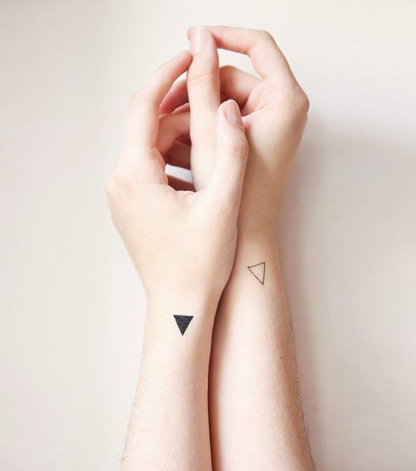 triangles | wrist tattoo | Morning Boutique - the triangle is the strongest geometric shape - under any pressure