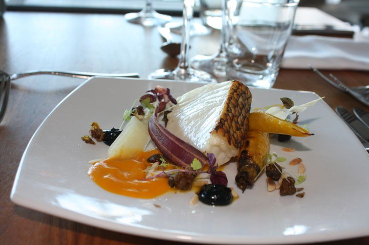 Patagonian Toothfish, almonds, popped capers, heirloom carrots