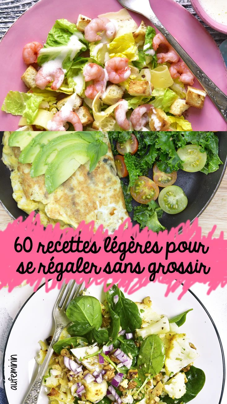 Des recettes originales, savoureuses, qui donnent envie de déguster, sans allourdir la balance, on en veut. 60 idées de plats minceur, aussi légers que délicieux à découvrir sur aufeminin
