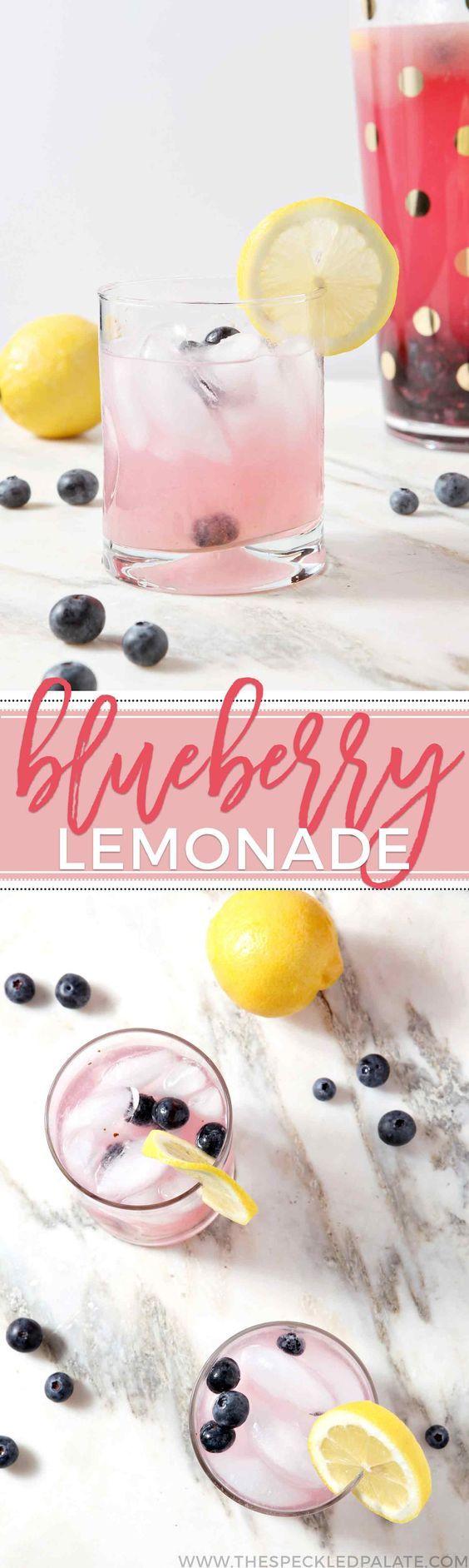 (6) Large Batch Blueberry Lemonade | Recipe
