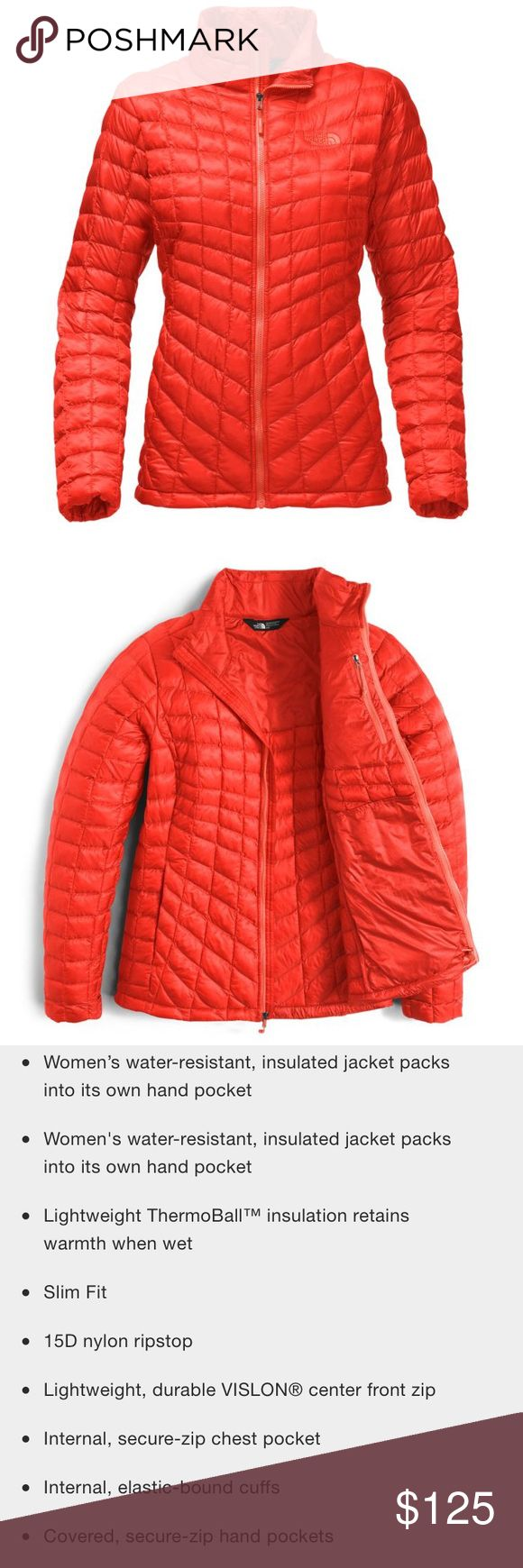 """North Face Thermoball jacket NWT North Face Thermoball jacket.  Color: """"High Risk Red"""". Size: XS. The North Face Jackets & Coats"""