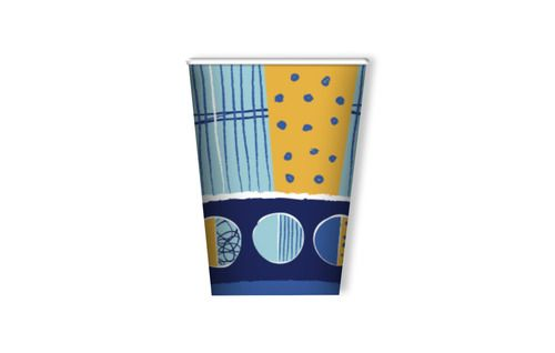 Bicchiere in carta Starboy - Paper glass Starboy 240 ml - conf. 10 pz Star boy party Blu arancio azzurro stelle pianeti www.mago-party.com