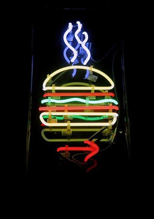 follow the neon sign - Burger Joint