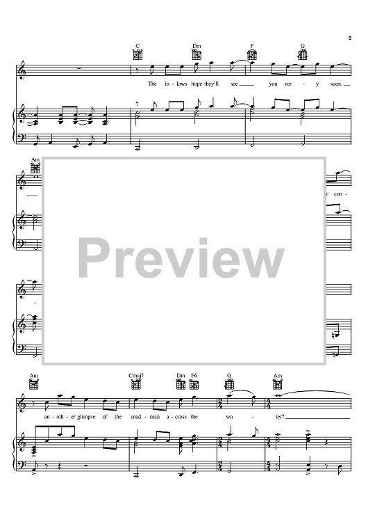 Madman Across The Water Sheet Music Preview Page 5
