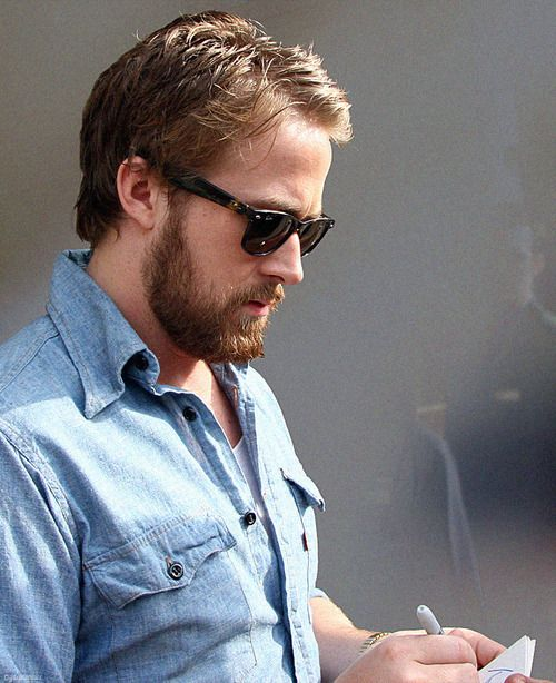 How to style a Ryan Gosling beard.