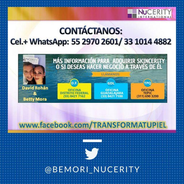 Más información para comprarlo o hacer con este producto un gran negocio, contáctanos llamando al teléfono de nuestras oficinas: En el D.F. (55) 8421 7162, Guadalajara (33) 8421 7100, Tepic (311) 690 3200 o en los cel.+whatsapp: 55 2970 2601 o 33 1014 4882. #skincerity   #skinceritymexico   #nucerity   #nuceritymexico   #TransformaTuPiel   #acne   #estrias   #cicatrices #cicatricesacne #dermatitis #rosacea #eczema #rozadurasdepañal #queratosispilaris #quemaduras  #belleza   #cuidadodelapiel