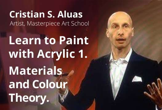 """Micro-course """"Learn to Paint with Acrylic 1. Materials and Colour Theory"""" by Cristian Aluas https://coursmos.com/course/learn-to-paint-materials-and-theory #Art & Photography @coursmos"""