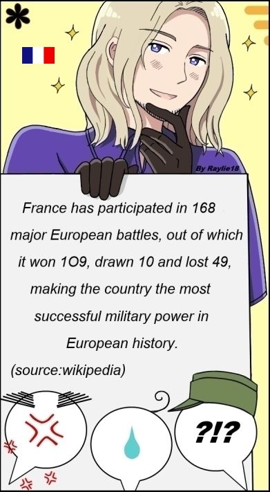 Yes, Big Bro France can beat the crap out of someone if he wanted to. He doesn't always surrender to boy scout groups.