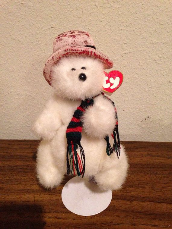 Teddy Bear TY Toy Northwind Wintertime Let by LooseChipsWoodWork