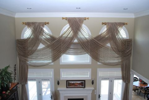 window treatments for great room windows | Window Treatments, Draperies, Curtins, Shutters, Blinds & Shades-Josie ...