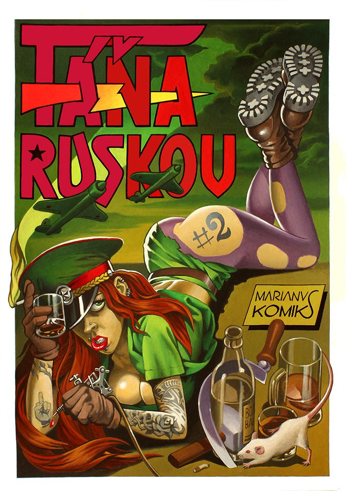 "Original Russian Comics underground-TANA RUSKOV #2 story called ""BRAND OF DEATH"""
