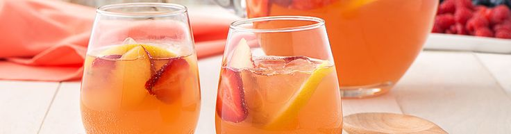 Virgin Strawberry Lemonade Sangria... Welch's has lots of great drinks when alcohol isn't an option!