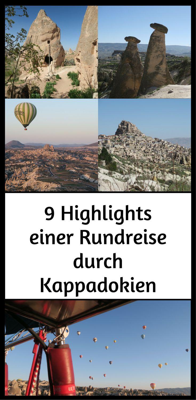 9 gute Gründe für eine Rundreise durch das Märchenland Kappadokien, mit seinen einmaligen Felslandschaften, Höhlenstädten, Heißluftballons und Vulkanen, ...