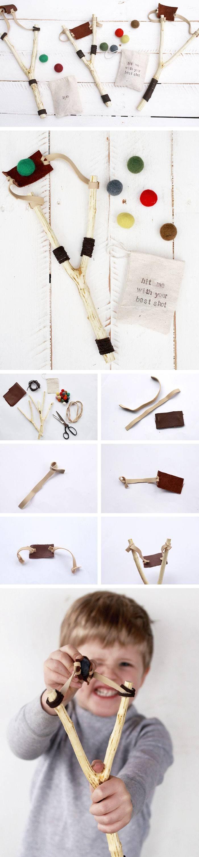 DIY Slingshot | Click Pic for 22 DIY Christmas Gifts for Kids to Make | Handmade Christmas Gifts for Boys