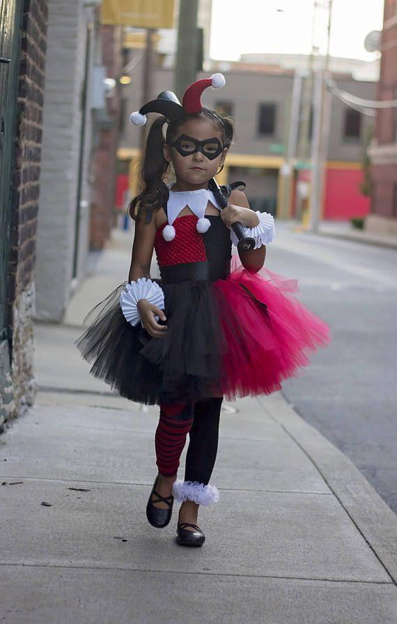 Harley Quinn Tutu Dress, Birthday, photo prop, Halloween, Harley Quinn Costume